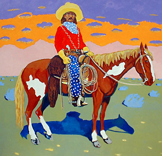 Buck Taylor, King of the Cowboys ©Santiago Perez - Paintings of the West