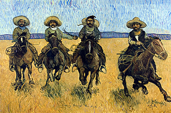 Comin' thru the Rye ©Santiago Perez - Paintings of the West