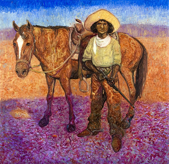 Nat Love, Cowboy ©Santiago Perez - Paintings of the West